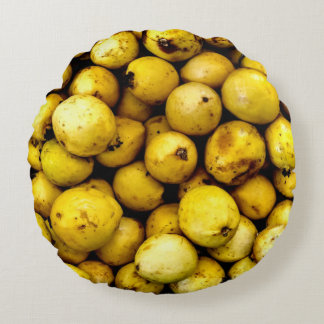 Yellow Guava Round Cushion