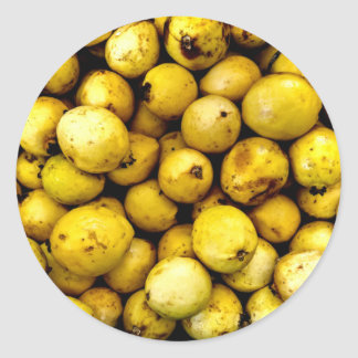 Yellow Guava Round Sticker