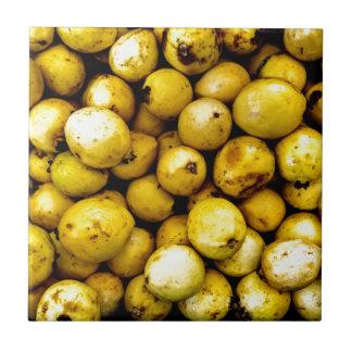 Yellow Guava Small Square Tile