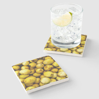 Yellow Guava Stone Coaster