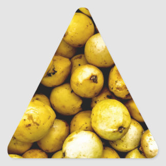 Yellow Guava Triangle Sticker