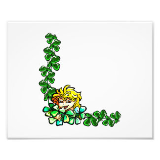 yellow hair sprite clover corner.png photographic print