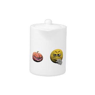 Yellow halloween emoticon or smiley