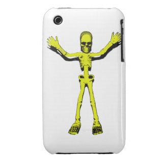 Yellow Halloween Skeleton iPhone 3 Covers