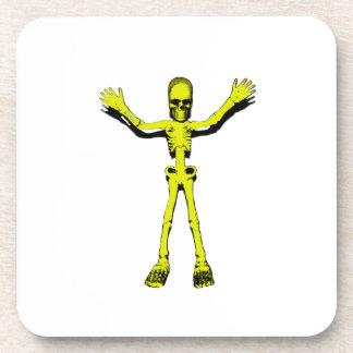 Yellow Halloween Skeleton Coaster