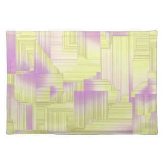 Yellow Halls Abstract Patel Design Placemat