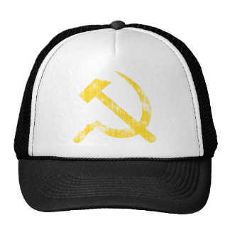 Yellow Hammer Sickle Trucker Hat