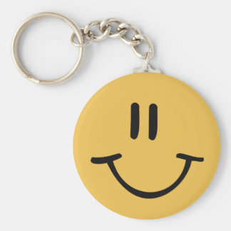 Yellow Happy Face Key Ring