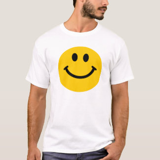 Yellow happy smiley face t-shirt
