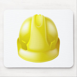 Yellow Hard Hat Safety Helmet Mouse Pads