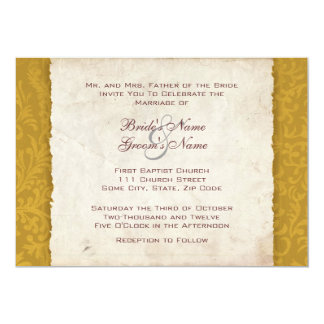 Yellow Harvest Country Wedding Invitation