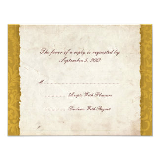 Yellow Harvest Country Wedding RSVP Card