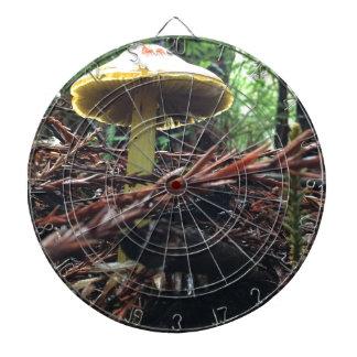 Yellow Hat Mushroom Dartboard
