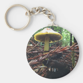 Yellow Hat Mushroom Key Ring