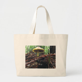 Yellow Hat Mushroom Large Tote Bag