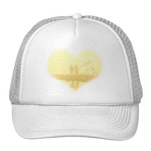 Yellow Heart Beach Wedding Mesh Hat