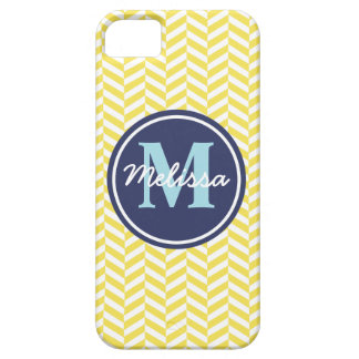 Yellow Herringbone iPhone 5 Cases