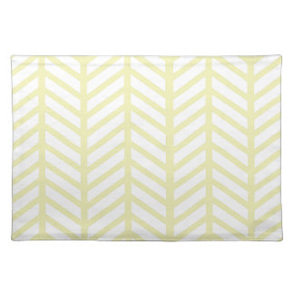 yellow Herringbone Placemats