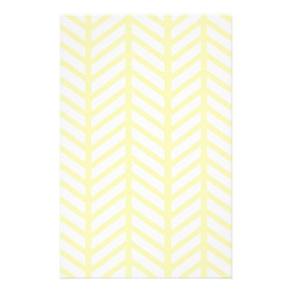 yellow Herringbone Stationery