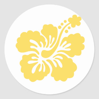 yellow hibiscus flower 16 stickers