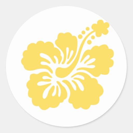 yellow hibiscus flower 16 stickers