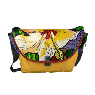 Yellow Hibiscus Flower Courier Bag