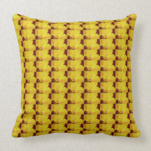 Yellow Hibiscus Flower Pattern Throw Pillow