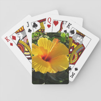 Yellow Hibiscus Flower Playing Cards Hawaii