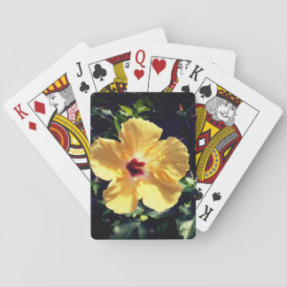 Yellow Hibiscus Poker Deck