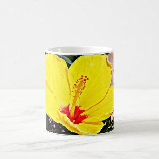 Yellow Hibiscus Standard Coffee Mug/Cup Coffee Mug