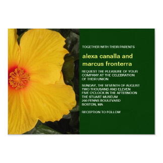 Yellow Hibiscus Wedding Invitation