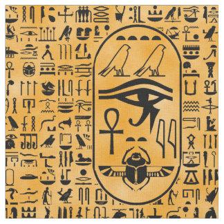 Yellow Hieroglyphics Fabric