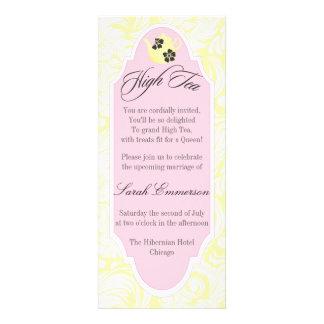 Yellow High Tea Bridal Shower Invitation