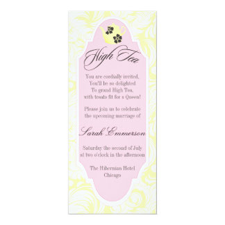 Yellow High Tea Bridal Shower Invitation