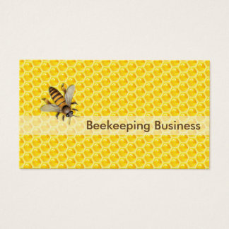 Yellow Honeycomb Beekeeping Apiary Business Card