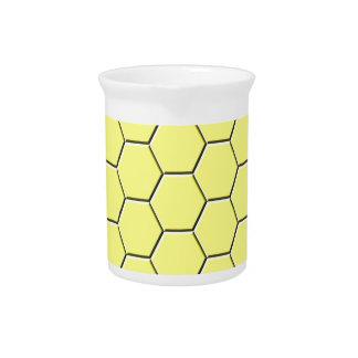 Yellow honeycomb pattern drink pitcher