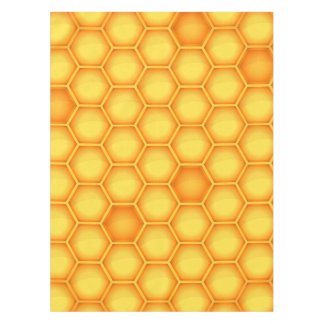Yellow Honeycomb Pattern Tablecloth