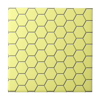 Yellow honeycomb pattern tile