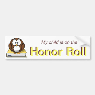 Yellow Honor Roll Bumper Sticker