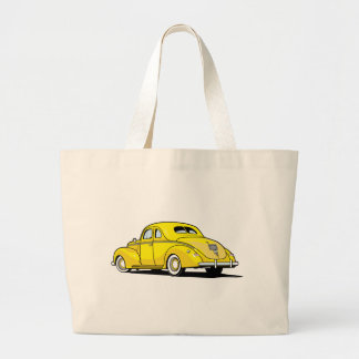 Yellow Hot Rod Coupe Canvas Bag
