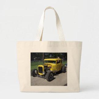 Yellow Hot Rod Jumbo Tote Bag