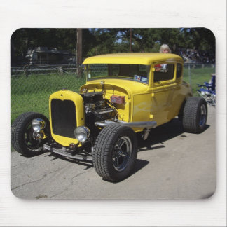 Yellow Hot Rod Mouse Pad