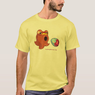 Yellow Hotdogtopus Hotdog T-shirt With Crazy Egg