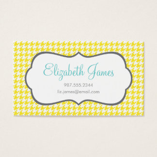 Yellow Houndstooth Business Card