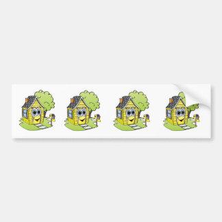 Yellow House Cartoon Bumper Sticker