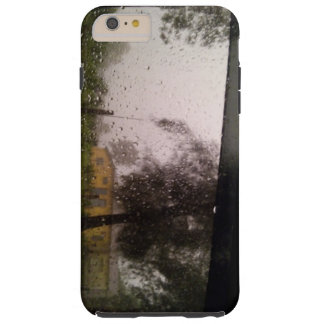 Yellow House in Raindrops Tough iPhone 6 Plus Case