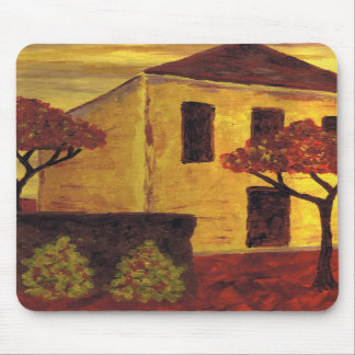 Yellow House Mouse Mat