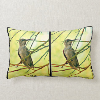 Yellow Hummer Lumbar Pillow