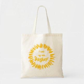 Yellow I make my own sunshine graphic Budget Tote Bag