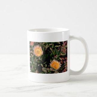 Yellow Ice Plant flowers Coffee Mugs